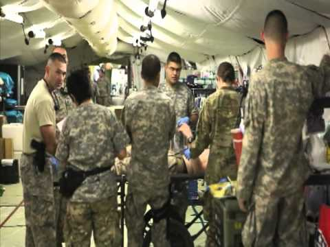 Combat Support Hospital Treats Marine