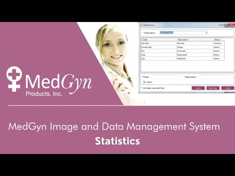 MedGyn Image and Data Management System - Statistics