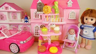 Baby doll Ice cream house and car toys play