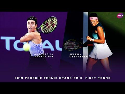 Anastasija Sevastova vs. Jelena Ostapenko | 2019 Porsche Tennis Grand Prix First Round