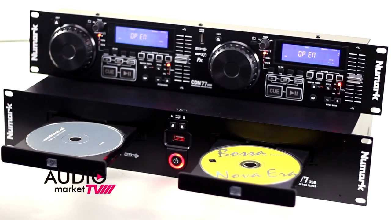 numark cdn77usb cd player profesional dual para rack youtube. Black Bedroom Furniture Sets. Home Design Ideas