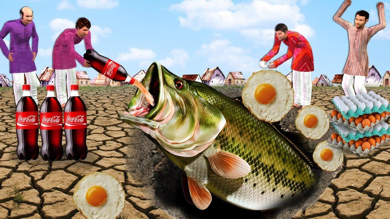 कीचड़ जाल मछली पकड़ने Mud Trap Fishing Comedy Video हिंदी कहानिया Hindi Kahaniya Comedy Hindi Video