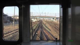 【前面展望】 IGRいわて銀河鉄道→花輪線 直通列車 好摩駅 到着シーン ATS警報音あり