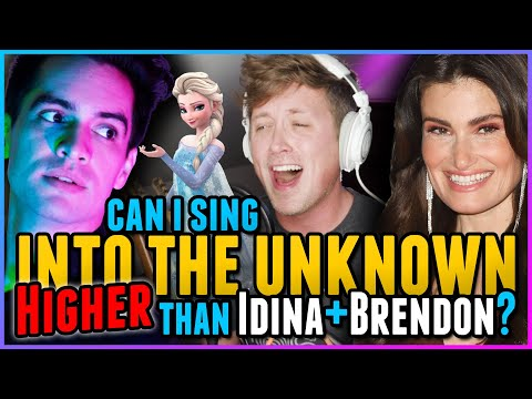 """HIGH NOTE CHALLENGE: Can I Sing """"Into The Unknown"""" HIGHER Than Idina Menzel & Brendon Urie? FROZEN 2"""