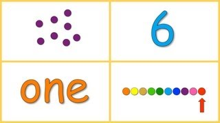 Baby Math: Numbers 0-10 (dots, numerals, words, rows)