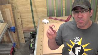 Building Kitchen Cabinets Part 12.  Making The Doors