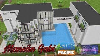 Tutorial de Construção Mansão Gabi Casa moderna The sims freeplay