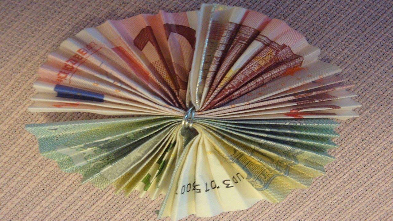 Geldschein Falten Geldschein Blume Aus 15 Deko Ideen Mit