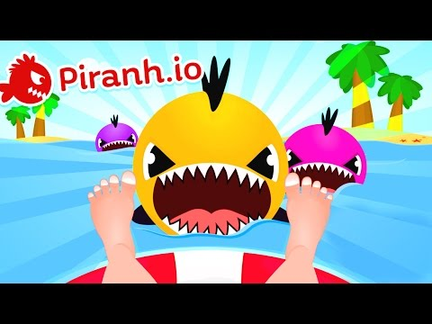 LAZER GUN ON A PIRANHA MAYHEM?!? - Brand New Piranha.io Top Player Gameplay - Games Like Agar.io!
