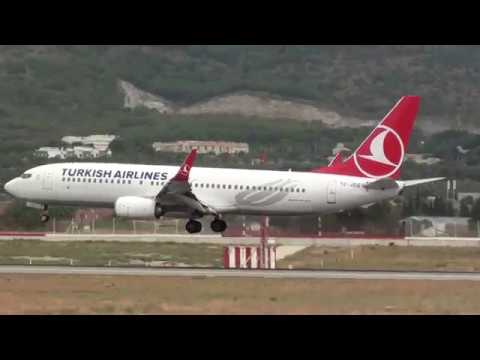 Turkish Airlines Boeing 737-800 TC-JZG Landing Malaga LEMG