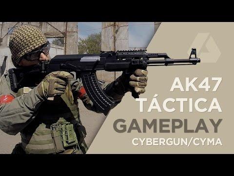 AK47 RIS Tactical Cybergun/CYMA Test Gameplay  - Airsoft en Español