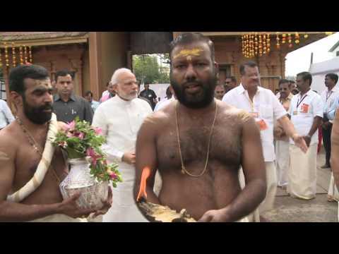 PM Modi's visit to Sreekanteshwara Temple, Calicut