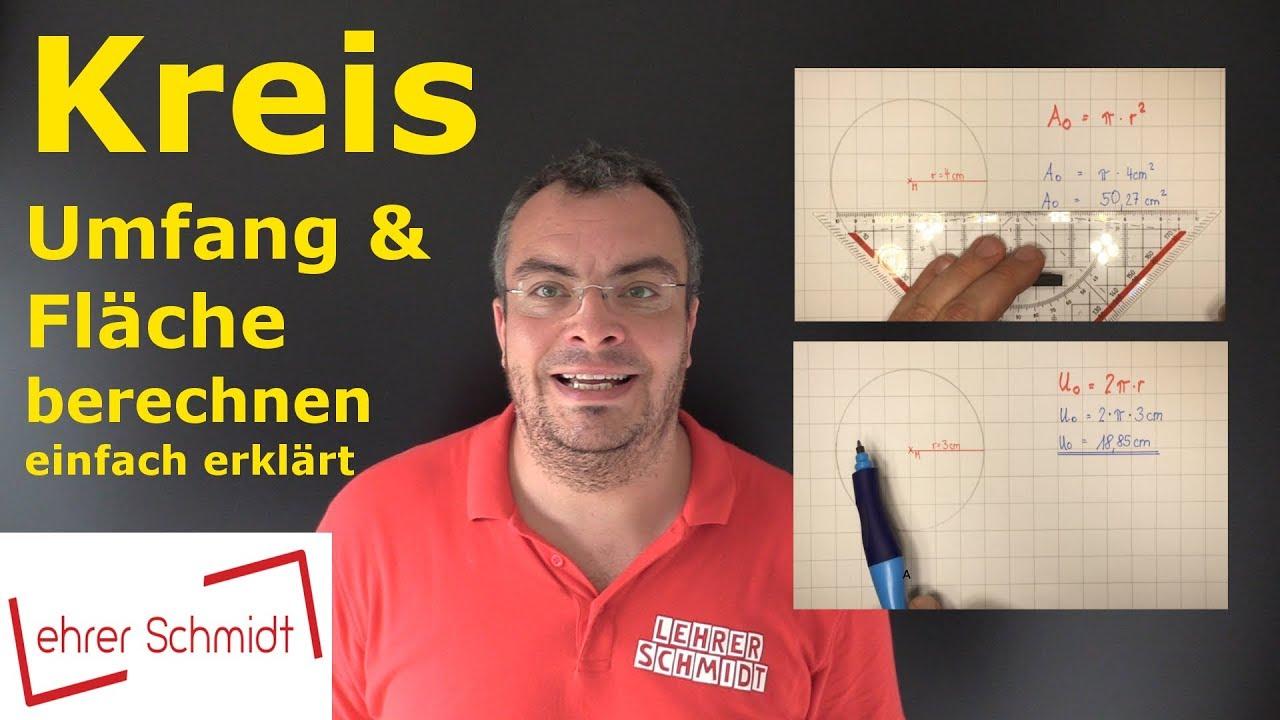 Kreis   Flächeninhalt Und Umfang Berechnen | Mathematik   Einfach Erklärt!