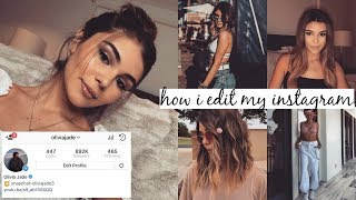 HOW I EDIT MY INSTAGRAM PICS | Olivia Jade