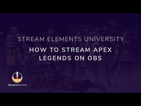 How to Stream Apex Legends with OBS Live (OBS Studio, Single