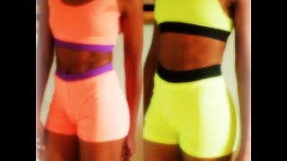 DIY: 2 Piece Exercise Wear w/elastic , from a  T-Shirt! (easy shorts pattern)