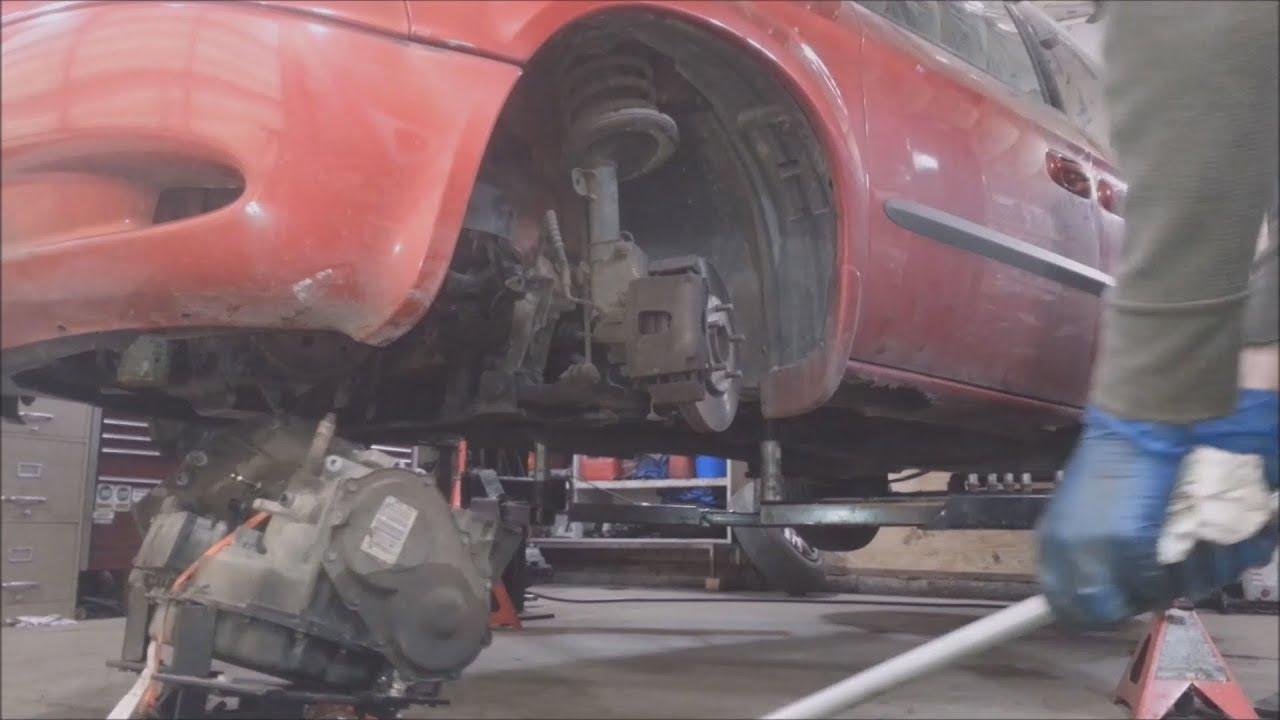 2005 dodge caravan transmission removal