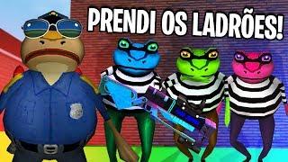 VIREI POLICIAL E PRENDI OS LADRÕES! 🐸 - Amazing Frog