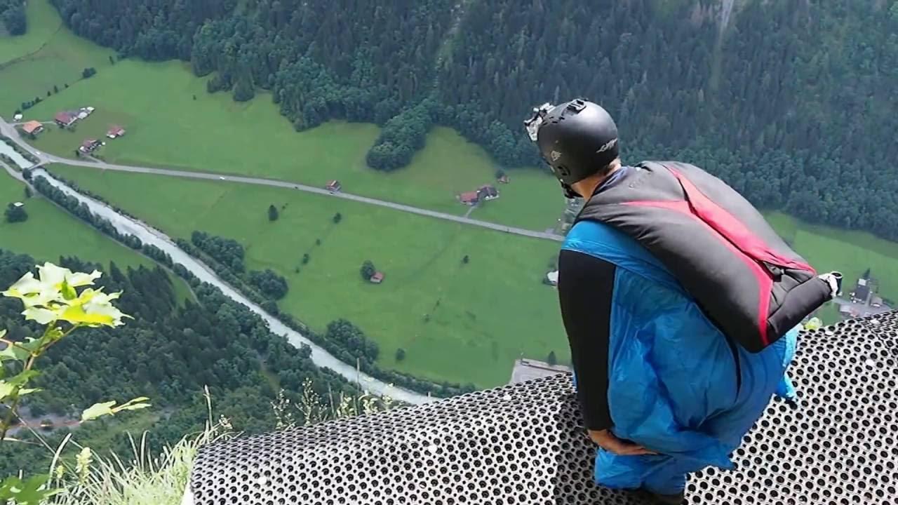 Klettersteig Mürren : Flight klettersteig mürren switzerland youtube