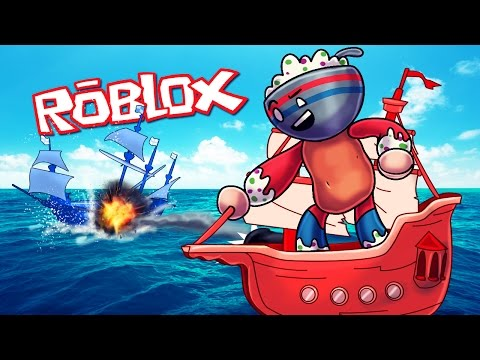 Roblox | RED VS BLUE PIRATE SHIP BATTLES! (Roblox Adventures)
