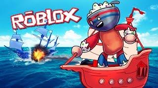 Roblox ? ¡BATALLAS DE BARCOS PIRATAS ROJOS VS AZULES! (Roblox Adventures)