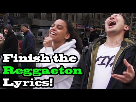 FINISH THE LYRICS in PUBLIC!! (Bad Bunny, Ozuna, Daddy Yankee, Shakira and more)