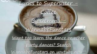 Supersister - Coffee lyrics x