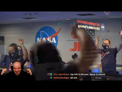 DG REACTS to Perseverance Rover's Descent and Touchdown on Mars (Official NASA Video)