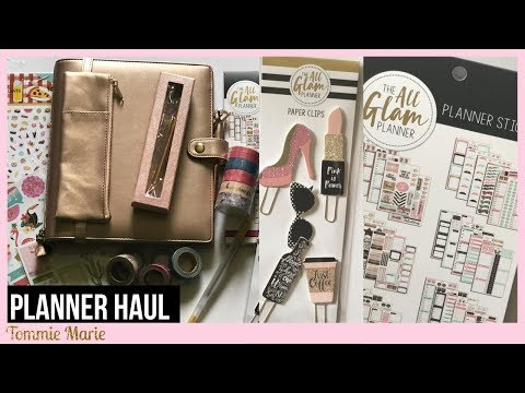 PLANNER HAUL 7/18 |Planner Accessories from Michaels & Walmart! | ft. The All Glam Planner 👀