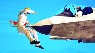 IMPALED BY A FIGHTER JET! (GTA 5 Funny Moments)