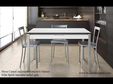 Mesa cocina extensible camel cancio moderna con caj n - Mesa cocina con cajon ...