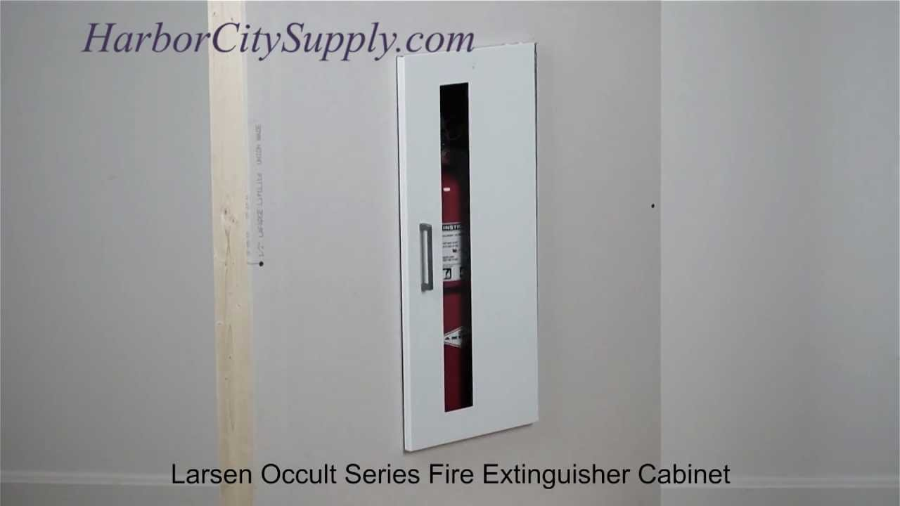 Recessed Fire Extinguisher Cabinet Larsen Occult Series YouTube - Jl fire extinguisher cabinets