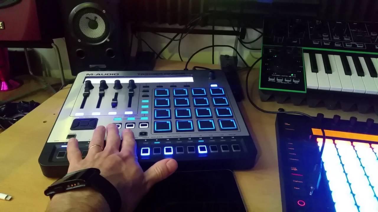 Using trigger finger pro as midi master clock source for ableton.