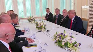 President Trump Attends Breakfast with the President of the Republic of Finland