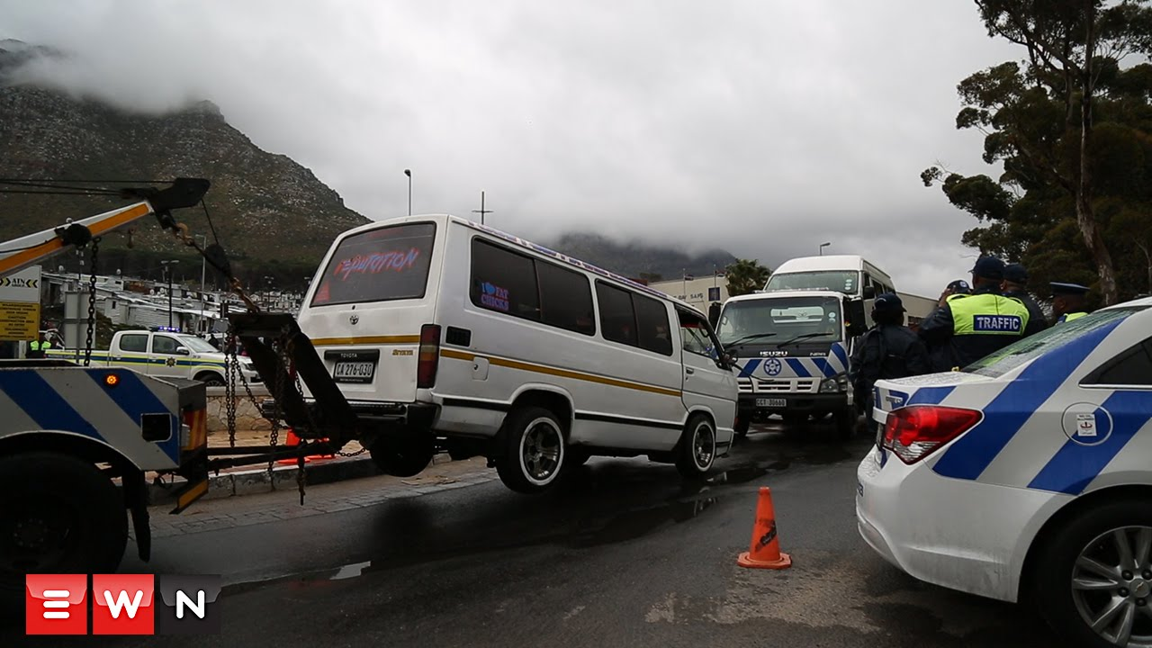 Taxi Protest in Hout Bay, South Africa