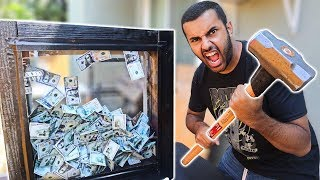 TAKE ALL THE MONEY IF YOU CAN IF YOU BREAK IT!!!! UNBREAKABLE GLASS CHALLENGE!!! *$30,000* 🤑