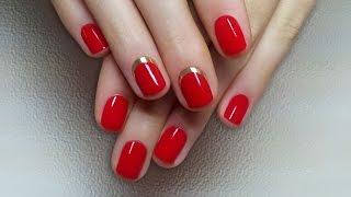 Дизайн ногтей гель-лак shellac - Обратный френч MINX (видео уроки дизайна ногтей)