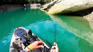 FANTASTICA Avventura in Lago a Pesca da kayak! E IL RE si fa vedere! ULTRA Clear Water Fishing