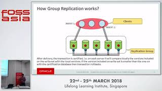The State of the Art on MySQL Group Replication - Hemant Dangi - FOSSASIA 2018