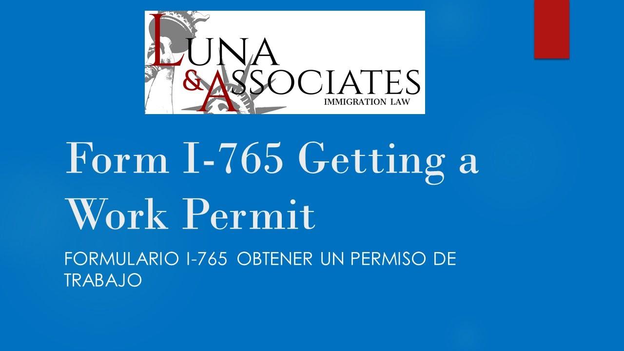 Form i 765 getting a work permit subttulos en espaol youtube falaconquin