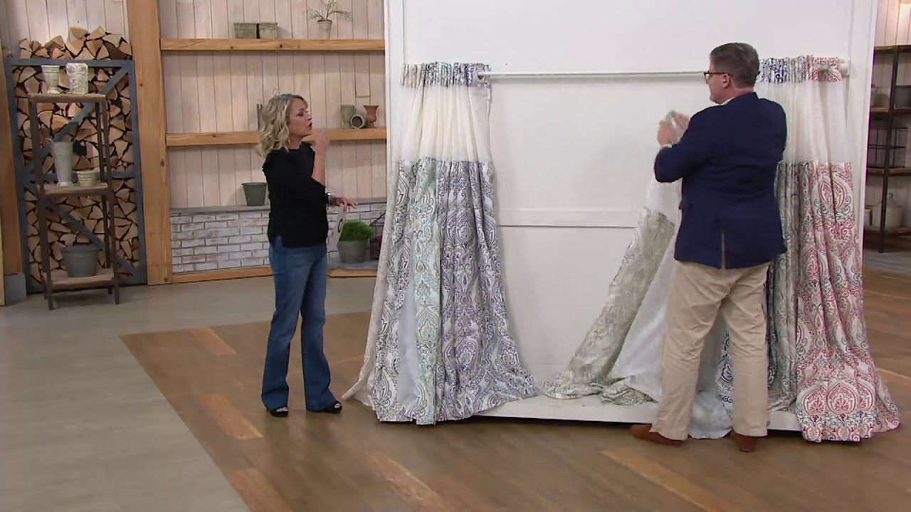 Hookless French Damask Shower Curtain With Built In Liner On QVC