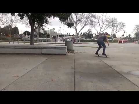 Gohan kick flip of a bench