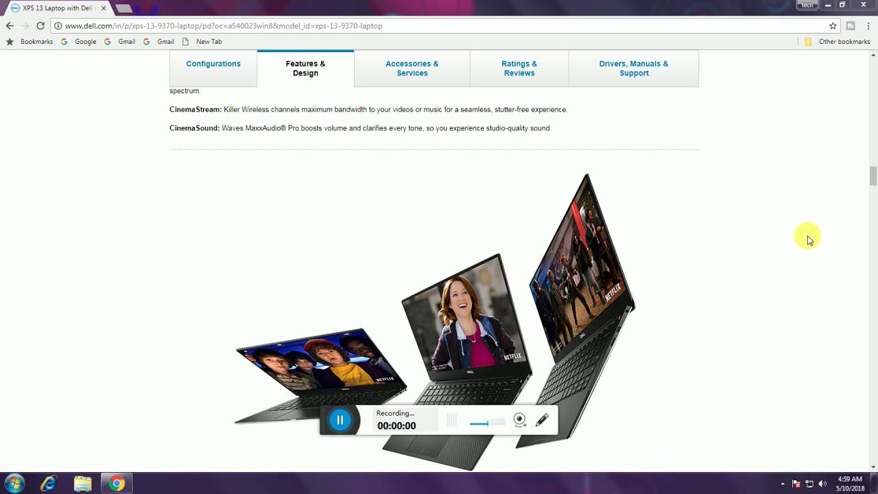 Dell XPS 9370 Laptop, 13 3