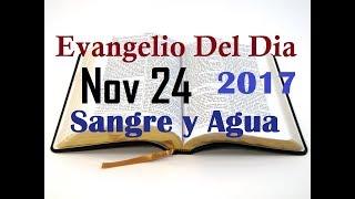 Evangelio del Dia- Viernes 24 Noviembre 2017- Restitucion Del Templo- Sangre y Agua