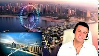 Самое большое колесо обозрения в Мире Dubai Eye! (Глаз Дубая). Дубай.