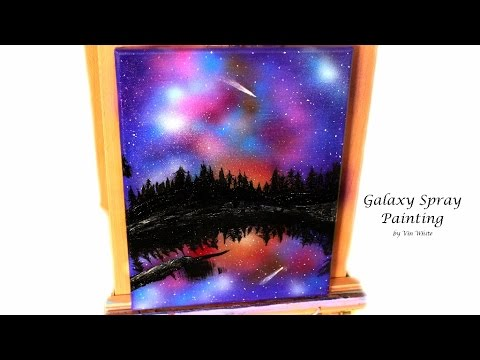 Spray Paint Art: Night Sky Speed Painting in Acrylic