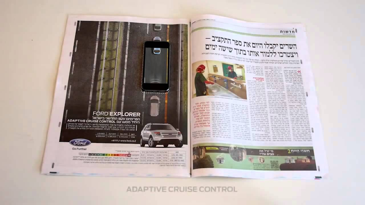 Ford Explorer Interactive Print Ad - YouTube