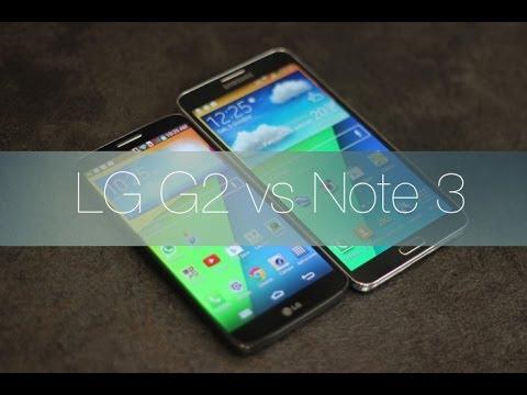 Comparativa LG G2 vs Samsung Galaxy Note 3
