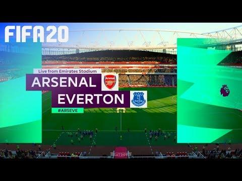 Fifa 20 Arsenal Vs Everton Emirates Stadium Youtube