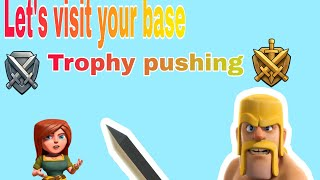 Clash of clans lets visit your base   strategy for townhall 5   trophy pushing  